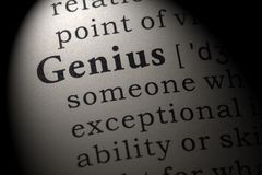 Definicja geniusz zdjęcia royalty free