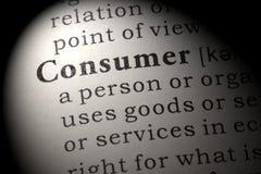 Definicja konsument zdjęcie royalty free