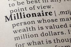 Definicja milioner zdjęcie stock