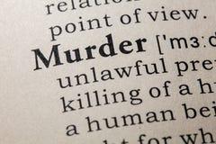 Definicja morderstwo zdjęcie stock
