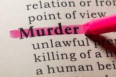 Definicja morderstwo obraz stock