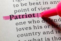 Definicja patriota obrazy stock