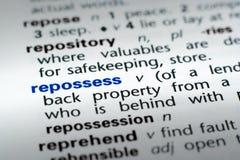 definicja repossess Fotografia Stock