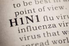 Definicja słowa H1N1 grypa zdjęcia royalty free