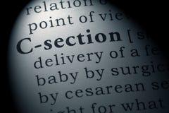 Definicja sekcja zdjęcie stock