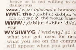 Definicja skrót WWW Zdjęcie Royalty Free