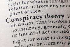 Definicja spisek teoria zdjęcie royalty free