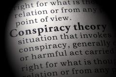 Definicja spisek teoria zdjęcia stock