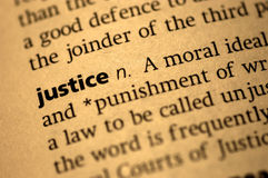 Definicja Sprawiedliwość fotografia stock