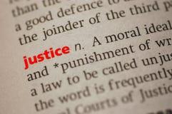 Definicja Sprawiedliwość obrazy royalty free