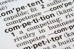 definierad konkurrens Arkivbild