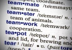 definierad teamwork Royaltyfri Fotografi