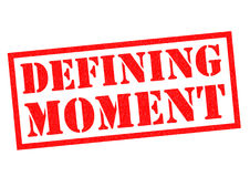 DEFINING MOMENT Rubber Stamp Stock Images