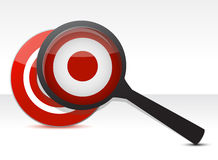 Defining The Target concept Royalty Free Stock Photography