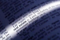 Definição de bens imobiliários Foto de Stock Royalty Free