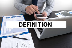 definitie stock foto