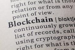 Definitie van blockchain royalty-vrije stock foto's