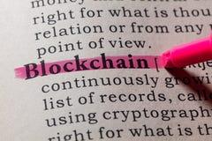Definitie van blockchain stock fotografie