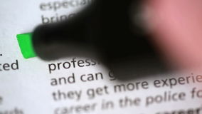 Definitie van carrière stock videobeelden