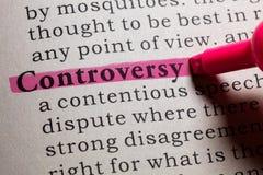 Definitie van controverse royalty-vrije stock afbeeldingen