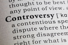 Definitie van controverse stock foto's