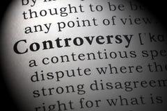 Definitie van controverse stock fotografie