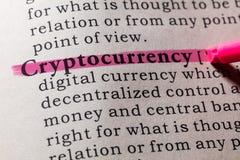 Definitie van cryptocurrency stock foto