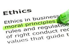 Definitie van de Word Ethiek Royalty-vrije Stock Foto