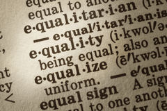 Definitie van Gelijkheid Royalty-vrije Stock Afbeelding