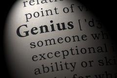 Definitie van genie royalty-vrije stock foto's