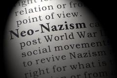 Definitie van neo-Nazisme stock foto