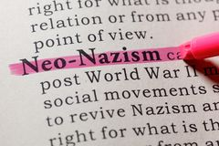 Definitie van neo-Nazisme royalty-vrije stock foto