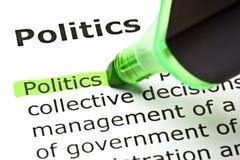 Definitie van Politiek royalty-vrije stock foto