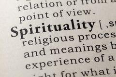 Definitie van spiritualiteit royalty-vrije stock foto