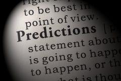 Definitie van voorspellingen Stock Afbeelding