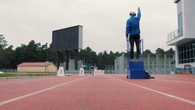 Definitief ras van 200 meters voor vrouwen stock video