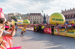 Definitief stadium van Tour DE Pologne in Krakau Stock Fotografie