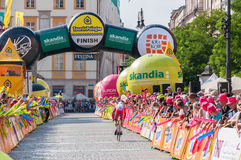 Definitief stadium van Tour DE Pologne in Krakau Stock Foto's