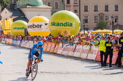 Definitief stadium van Tour DE Pologne in Krakau Stock Foto