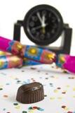 Definitief stuk van chocolade stock afbeelding