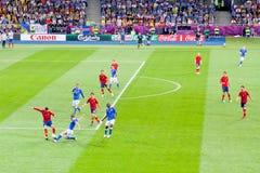 Definitief voetbalspel van de EURO 2012 van UEFA Royalty-vrije Stock Foto