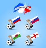 Definitieve de Toernooiengroep B van het voetbalkampioenschap Stock Afbeelding