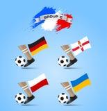 Definitieve de Toernooiengroep C van het voetbalkampioenschap Stock Fotografie