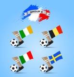 Definitieve de Toernooiengroep E van het voetbalkampioenschap Stock Foto's