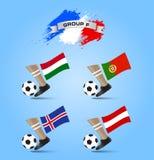 Definitieve de Toernooiengroep F van het voetbalkampioenschap Royalty-vrije Stock Afbeelding