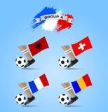 Definitieve de Toernooiengroep A van het voetbalkampioenschap Stock Afbeeldingen