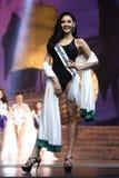 Definitieve Ronde van Misser Supranational Thailand 2017 op groot stadium a Stock Foto's