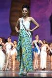 Definitieve Ronde van Misser Supranational Thailand 2017 op groot stadium a Royalty-vrije Stock Afbeeldingen