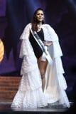 Definitieve Ronde van Misser Supranational Thailand 2017 op groot stadium a Stock Afbeelding