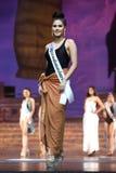 Definitieve Ronde van Misser Supranational Thailand 2017 op groot stadium a Royalty-vrije Stock Fotografie